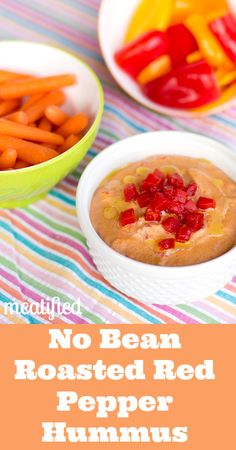 No Bean Roasted Red Pepper Hummus from http://meatified.com #paleo #glutenfree #vegan #vegetarian