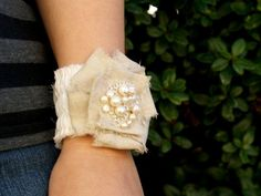 Romantic Fabric Corsage Bracelet Tutorial