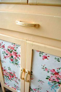 gorgeous wallpaper cabinet