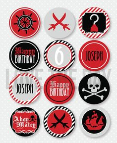 Pirate Party Party Circles by Love The Day
