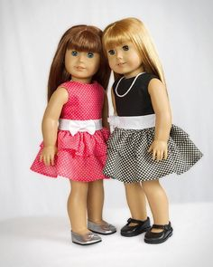 """PDF Sewing Pattern for 18"""" American Girl Doll Clothes - Perfect Party Dress ePattern. $4.49, via Etsy."""