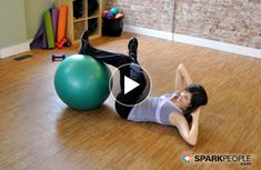 15-Minute Full-Body Ball Workout | via @SparkPeople #fitness #exercise #tone #exercise #video