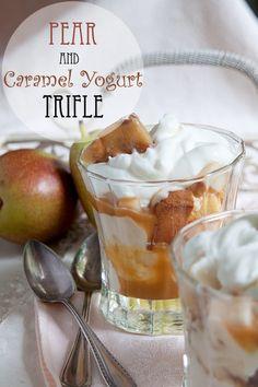 Pear and Caramel Yogurt Trifle