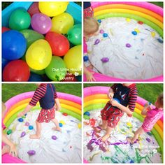 Paint Filled Water Balloons - Messy Outdoor Summer Fun!