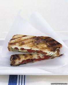 Pressed Mozzarella Sandwiches Recipe- under 30 Minutes!