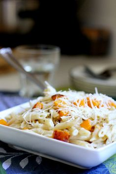 Roasted Butternut Squash and Chicken Penne with Parm-Sage Sauce