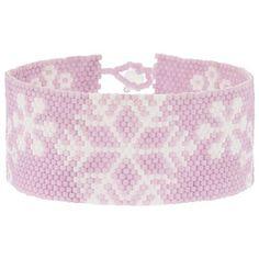 Beaded Morning Snowfall Snowflake  Bracelet PATTERN Fusion Beads Inspiration Gallery Peyote
