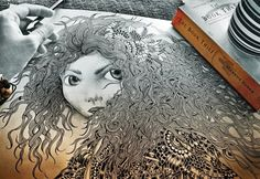 merida :) Misc by Maahy , via Behance