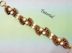 PDF for beadwoven bracelet beading tutorial - beadweaving beading pattern beaded seed bead jewelry - TAIPAI