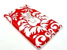 Red Damask Switch Plate