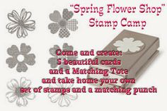 """""""Spring Flower Shop"""" Stamps in the Mail Now Available.... Blog:  disneysuitsme.blogspot.com Michelle Suit - Independent Stampin' Up! Demo"""