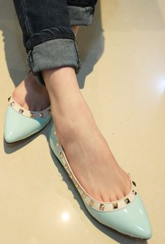 $17 2013 spring new European and American studded flat fashion shoes-ZZKKO