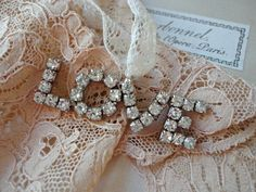 Rhinestone Love brooch