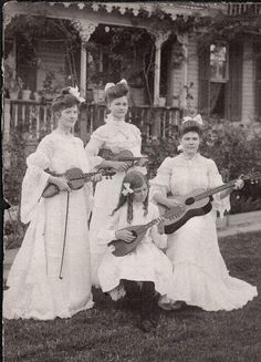 All-girl band, 1903.
