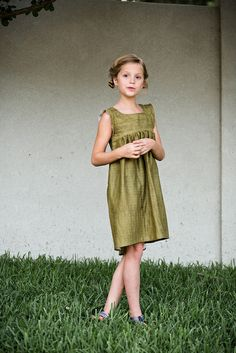 bohemian babydoll dress in double gauze // stitched together
