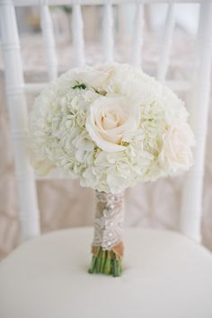 White bouquet with a burlap and lace wrap. Photography By / http://harwellphotography.com,Floral Design   Wedding Day Coordination By / http://everythingandmoreevents.com bridal bouquets, galleri, wedding bouquets, bride bouquets, bridesmaid, white lace, white bouquets, floral designs, flower
