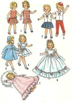 "Vintage 12"" Shirley Temple Doll Clothes Pattern"