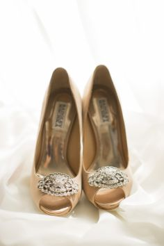 Badgley Mischka pumps with the perfect amount of sparkle #shoes #wedding | New Orleans Inspired Wedding in Houston from Mustard Seed Photography  Read more - http://www.stylemepretty.com/texas-weddings/2013/10/25/new-orleans-inspired-wedding-in-houston-from-mustard-seed-photography/