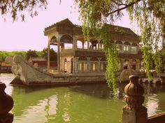 #marble #boat in the #summer #palace in #beijing