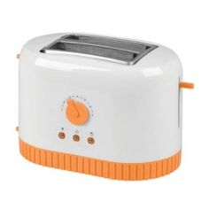 Super cute orange toaster (has a matching orange coffee maker as well!) http://orangekitchendecor.siterubix.com/love-this-orange-toaster  #ppgorange #seemorereviews