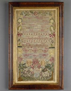 AN EARLY 18TH CENTURY BAND SAMPLER - 1729 English