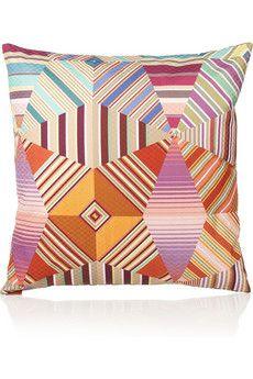 missoni decor, pillow, pattern, noceda cottonsateen, cushions, featherfil cushion, missoni, homes, design