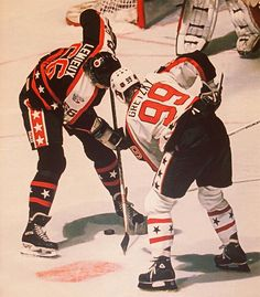 Wayne Gretzky and Mario Lemieux   NHL All-Star Game   Hockey