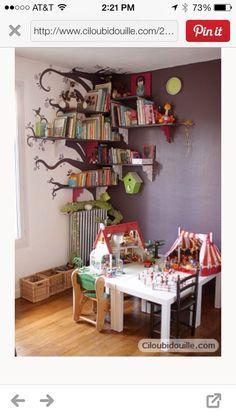 DIY Kids Room Bookshelf