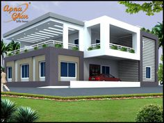 4 Bedrooms Duplex House Design in 238m2 (17m X 14m) Like, share, comment. click this link to view more details - http://apnaghar.co.in/search-results.aspx