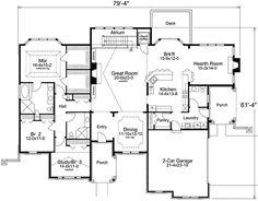 floorplan of european style home
