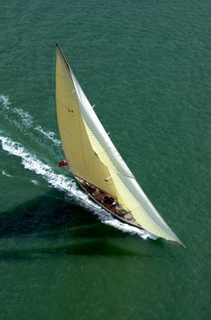 Cambria sails in the Mediterranean during the Les Voiles de Saint Tropez.