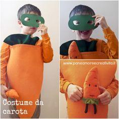 Costume di #Carnevale veloce fai da te: la #carota | #faidate #DIY #kids #vegetables #carrot