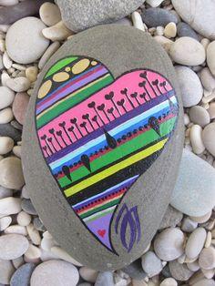 Acrylics – Painted stone 5016 – a unique product by Serenitsa on DaWanda