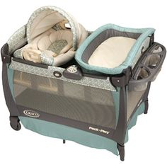 Graco - Pack 'n Play Playard with Cuddle Cove Rocking Seat, Winslet.  A friend of ours uses these and loves them.  They also act as a play pen.
