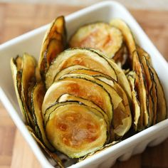 Zucchini Chips...so delicious looking! You could also add a little Parmesan cheese.