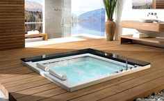 love that it is not above ground and that you can see the beautiful view of the outside while in the tub.