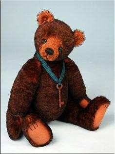 'Sebastien' by Paula Carter #teddybears #teddy #bear #bears #paulacarter #artistbears www.allbear.co.uk Bearing All