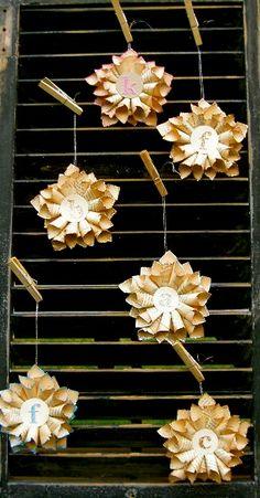 Tiny Paper Star Ornaments Tutorial.