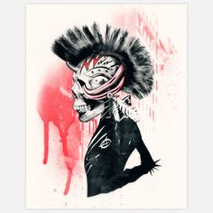 Punk Print 11x14 now featured on Fab.