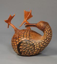 Mindy Hawkins gourd art.