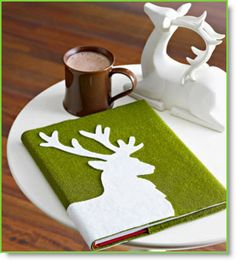Dress Up a Book ♥ http://felting.craftgossip.com/2013/12/08/dress-up-your-books-in-felt-for-the-holidays/