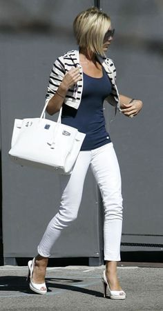 victoria beckham... as a sporty ruler, you can carry cropped jackets so well