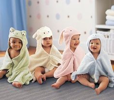 Baby animal towels are a must!