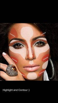 How to contour and highlight .
