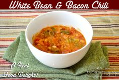White Bean and Bacon Chili – Real and Nourishing and Grain and Dairy Free using Essential Oils!