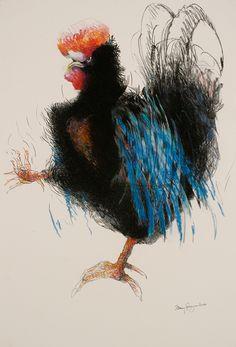 arti chicken, inspir, rooster, anim art