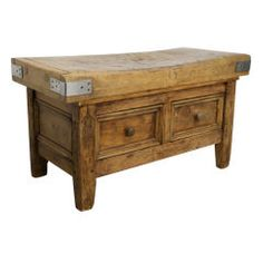 Great 19th Century French butcher's Block Table