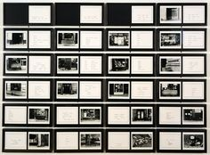 """Martha Rosler, """"The Bowery in two inadequate descriptive systems"""" (1974-1975)   installation   gelatin silver prints on board    Source: http://www.sfmoma.org/explore/collection/artwork/15418#ixzz1jHCxxLh2   San Francisco Museum of Modern Art"""