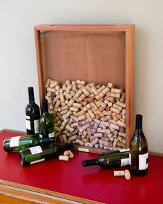 have guests sign corks; place in this cork shadowbox and display in your home after the wedding! - 43 best wine themed wedding ideas