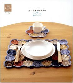 crochet placemat and coaster